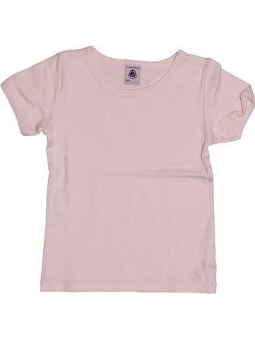 T-shirt manches courtes unisexe PETIT BATEAU rose 4 ans été #1549619_1