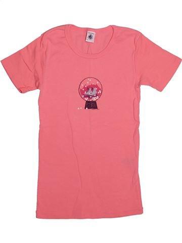 T-shirt manches courtes fille PETIT BATEAU rose 12 ans été #1549856_1
