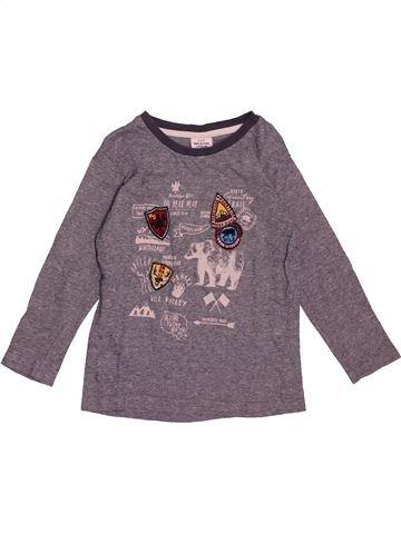 T-shirt manches longues garçon TAPE À L'OEIL violet 4 ans hiver #1550153_1