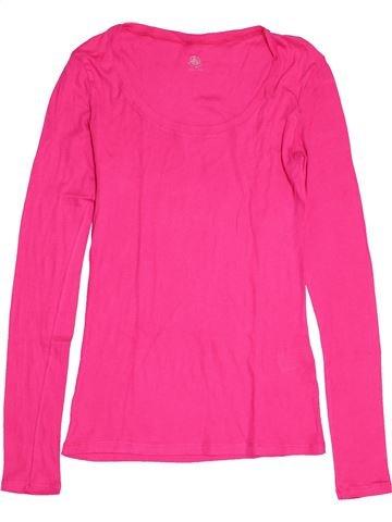 T-shirt manches longues fille PETIT BATEAU rose 12 ans hiver #1550727_1