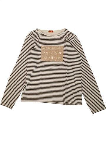 T-shirt manches longues fille TAPE À L'OEIL blanc 10 ans hiver #1553262_1