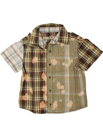 Chemise manches courtes garçon OKAIDI beige 3 ans été #1553911_1