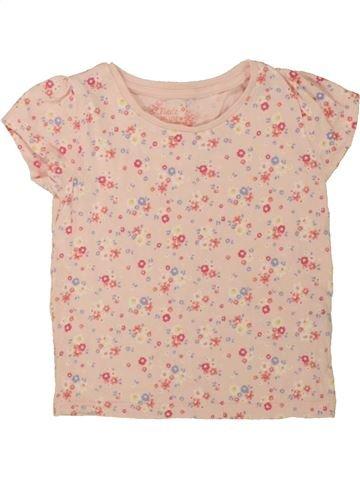 T-shirt manches courtes fille YOUNG DIMENSION rose 3 ans été #1554615_1