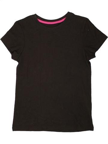T-shirt manches courtes fille YOUNG DIMENSION noir 9 ans été #1555379_1