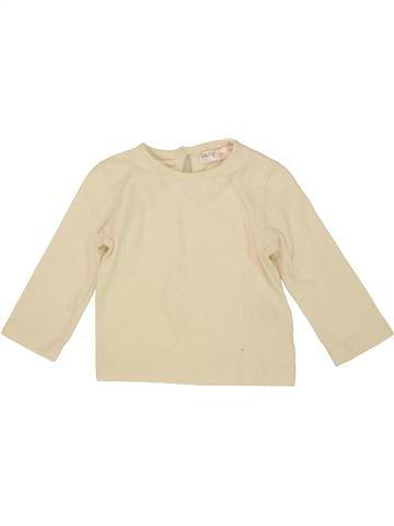 T-shirt manches longues fille M&CO beige 6 mois hiver #1556951_1