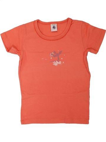 T-shirt manches courtes fille PETIT BATEAU orange 5 ans été #1557456_1
