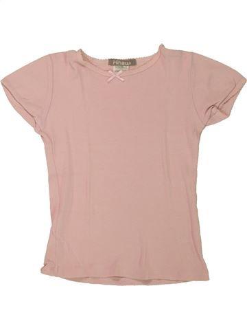 T-shirt manches courtes fille LA REDOUTE rose 6 ans été #1557591_1