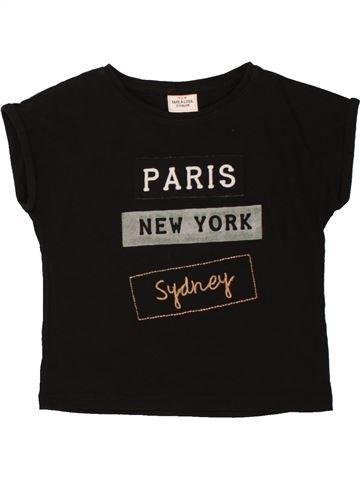 T-shirt manches courtes fille TAPE À L'OEIL noir 2 ans été #1557652_1