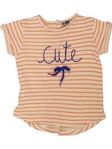 T-shirt manches courtes fille TAPE À L'OEIL beige 2 ans été #1557659_1