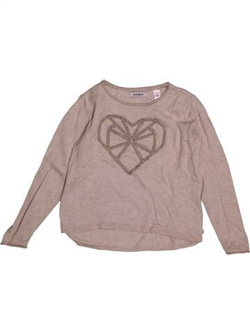 Pull fille OKAIDI gris 6 ans hiver #1557682_1
