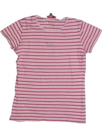 T-shirt manches courtes fille LISA ROSE rose 10 ans été #1557702_1