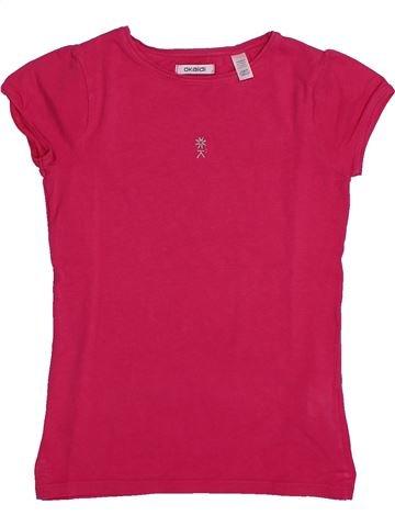 T-shirt manches courtes fille OKAIDI rose 10 ans été #1557705_1
