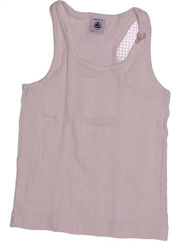 T-shirt sans manches fille PETIT BATEAU gris 6 ans été #1557867_1