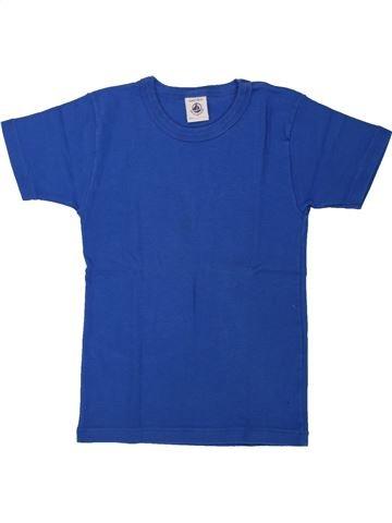 T-shirt manches courtes garçon PETIT BATEAU bleu 6 ans été #1557930_1