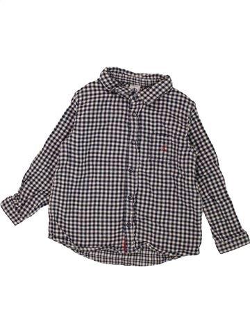 Chemise manches longues garçon PETIT BATEAU gris 3 ans hiver #1557961_1