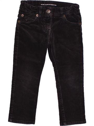 Pantalón niño BENETTON negro 3 años invierno #1558010_1