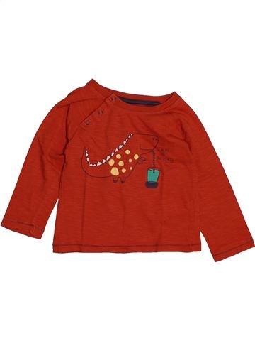 T-shirt manches longues garçon CADET ROUSSELLE rouge 2 ans hiver #1558531_1