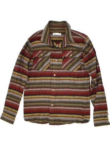 Chemise manches longues garçon M&CO marron 12 ans hiver #1558932_1