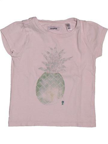 T-shirt manches courtes fille OKAIDI gris 3 ans été #1559243_1