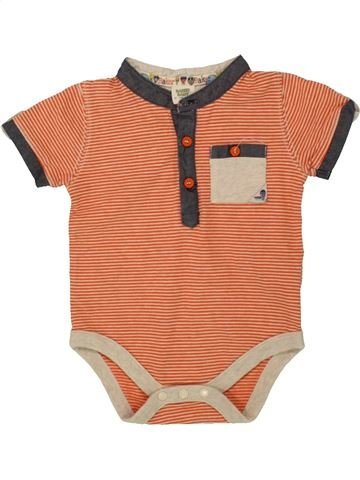T-shirt manches courtes garçon BAKER orange 9 mois été #1559420_1