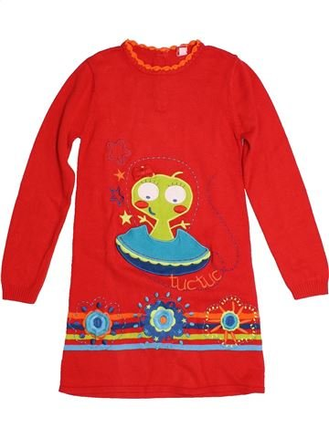 Robe fille TUC TUC rouge 6 ans hiver #1559575_1