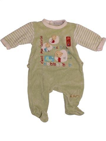 Pyjama 1 pièce garçon IN EXTENSO beige 1 mois hiver #1559684_1