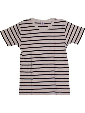 T-shirt manches courtes fille PETIT BATEAU gris 10 ans été #1559849_1