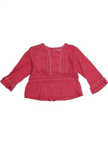 Blouse manches longues fille OKAIDI rose 18 mois hiver #1560410_1