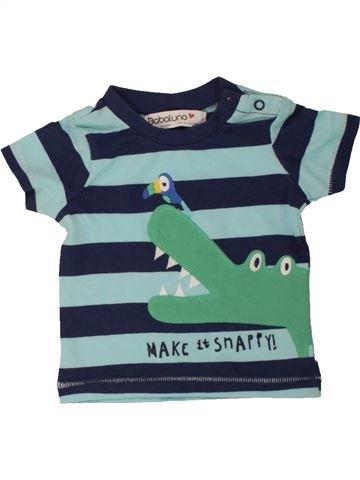 T-shirt manches courtes garçon BABALUNO vert 3 mois été #1560600_1