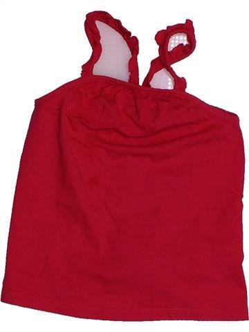 T-shirt sans manches fille TAPE À L'OEIL rouge 4 ans été #1560692_1