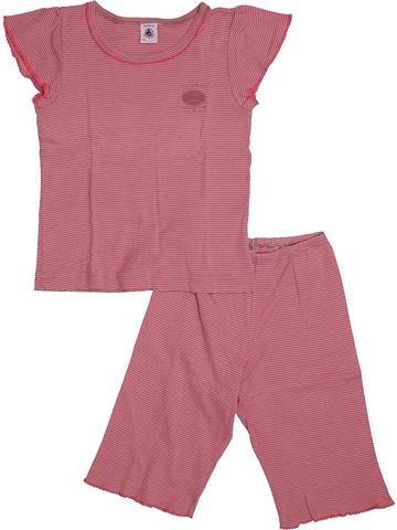 Pyjama 2 pièces fille PETIT BATEAU rose 6 ans été #1560824_1