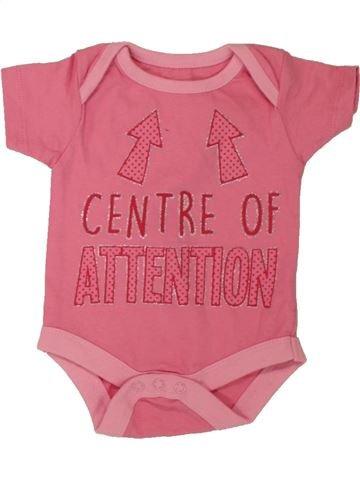 T-shirt manches courtes fille PEP&CO rose naissance été #1560900_1