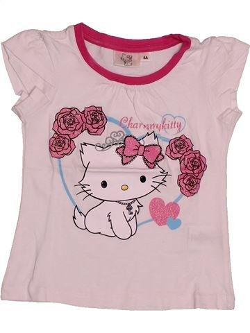T-shirt manches courtes fille HELLO KITTY rose 4 ans été #1561044_1