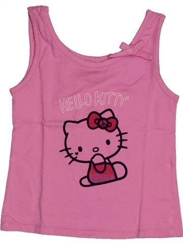 T-shirt sans manches fille HELLO KITTY rose 4 ans été #1561053_1