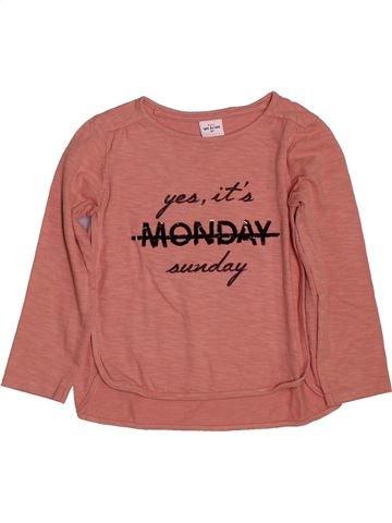 T-shirt manches longues fille TAPE À L'OEIL marron 6 ans hiver #1561354_1