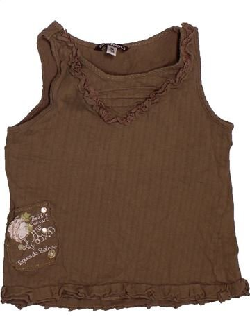 Camiseta sin mangas niña OOXOO marrón 5 años verano #1561811_1
