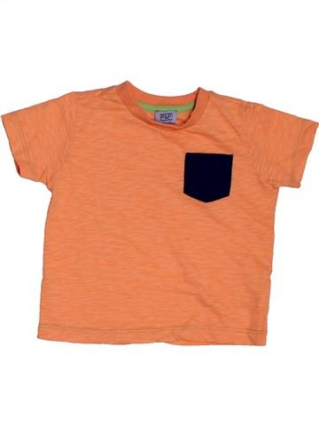 T-shirt manches courtes garçon F&F orange 18 mois été #1561864_1