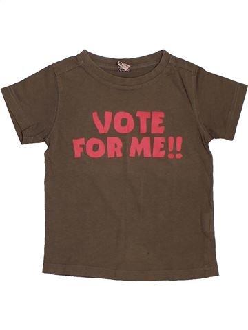 T-shirt manches courtes garçon TAPE À L'OEIL marron 3 ans été #1562567_1