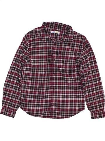 Chemise manches longues garçon M&CO violet 10 ans hiver #1563162_1