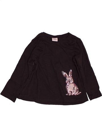 T-shirt manches longues fille TAPE À L'OEIL marron 4 ans hiver #1563245_1