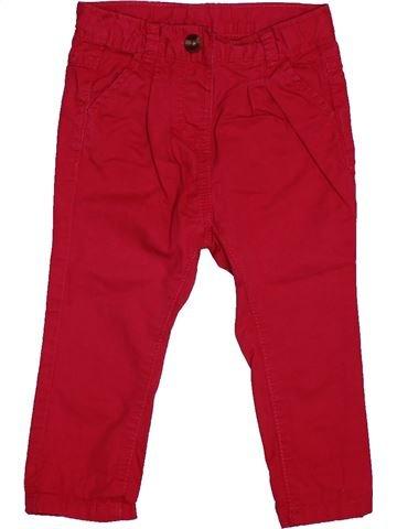 Pantalon fille TAPE À L'OEIL rouge 12 mois hiver #1563411_1