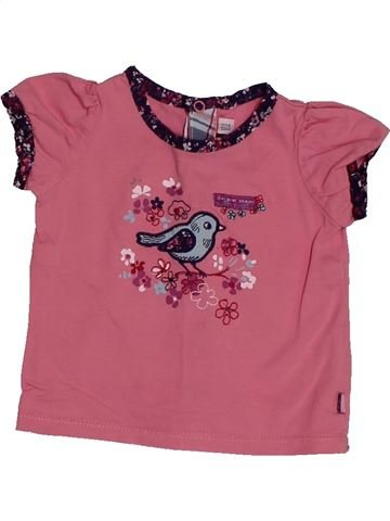 T-shirt manches courtes fille SERGENT MAJOR rose 6 mois été #1563429_1