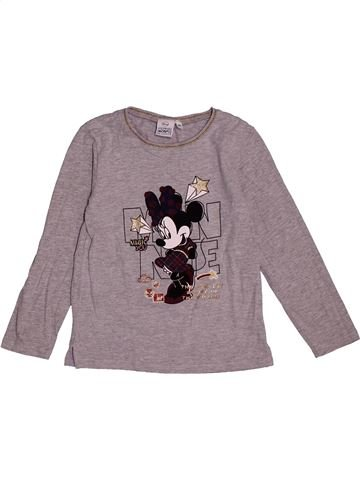 T-shirt manches longues fille DISNEY gris 6 ans hiver #1563536_1