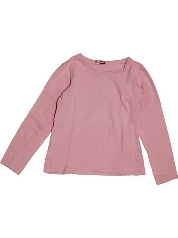 T-shirt manches longues fille DPAM rose 8 ans hiver #1563574_1