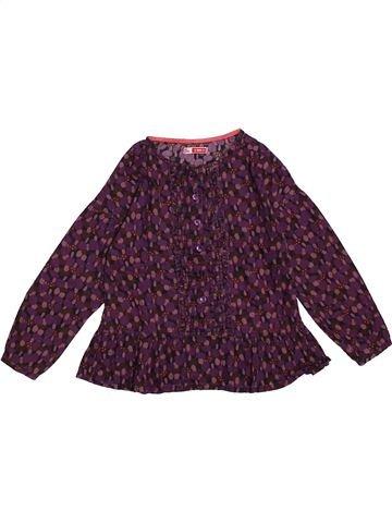Blouse manches longues fille DPAM violet 6 ans hiver #1563623_1