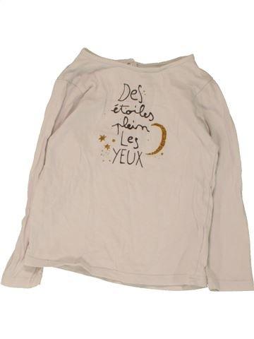 d2bccd4857b8b T-shirt manches longues fille CADET ROUSSELLE blanc 3 ans hiver  1658934 1