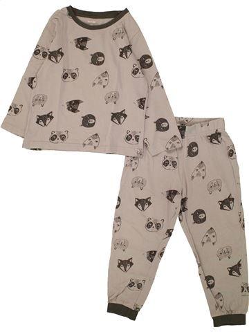 3c65b0e74 Pijama de 2 piezas niño KIABI beige 4 años invierno  1661191 1
