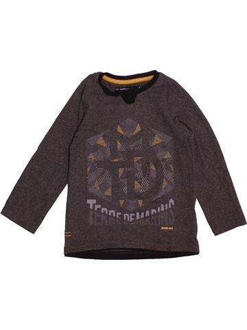 12ec0d7f22c0f T-shirt manches longues garçon TERRE DE MARINS marron 3 ans hiver  1671582 1