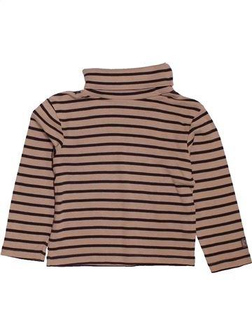 f9c101f8b1a73 T-shirt col roulé garçon OKAIDI beige 3 ans hiver  1695465 1