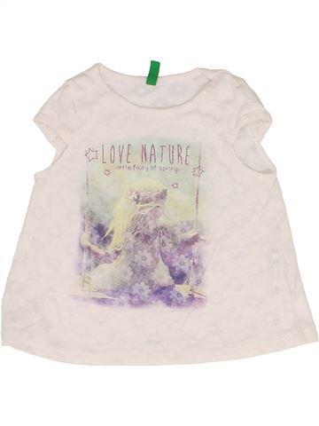 c30e96406 Camiseta de manga corta niña BENETTON blanco 12 meses verano #1707289_1